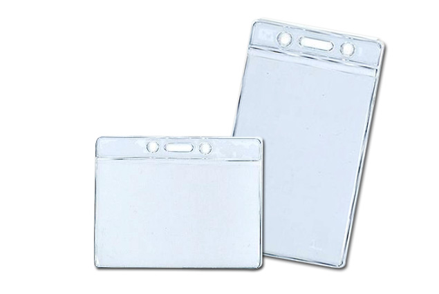 cube designing services offer clear heavy duty portrait soft plastic id card holder in dubai - Plastic Id Card Holder